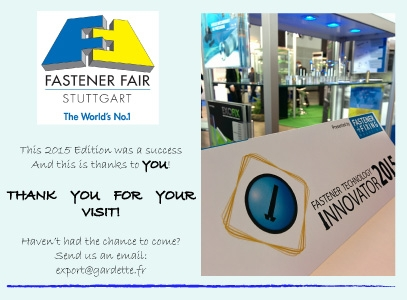 Fastener Fair Stuttgart 2015 - Thank you for your visit!