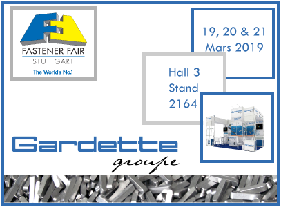 Save the date ! Gardette will be exhibiting at Stuttgart in March.